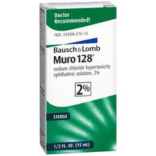 Muro 128 Solution 2% 15 ml By Bausch & Lomb