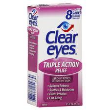 Clear Eyes Triple Action Relief Eye Drops - 0.5 fl oz bottle