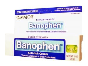 Banophen Anti-Itch 2% Cream 1 oz By Major Pharma Generic Benadryl