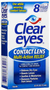 Clear Eyes Contact Lens Relief Soothing Eye Drops - 0.5 fl oz bottle