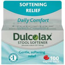 Dulcolax Stool Softener Liquid Gels - 100 Count