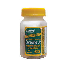 Cerovite Jr. Chewable Tablets 60 Count by RUGBY Generic Centrum