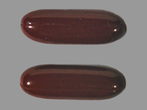 capsule , red , oval oblong