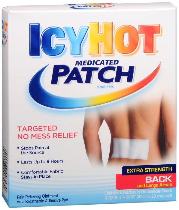 Pack of12-Icy Hot Back Patch 5Ct BY CHATTEM DRUG & CHEM CO