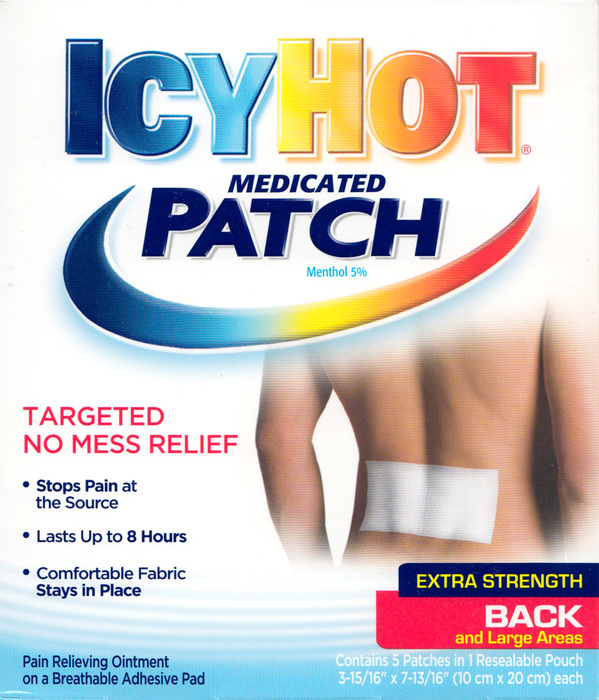 '.Icy Hot Back Patch 5Ct BY CHAT.'