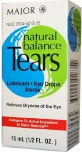 Natural Balance Tears Eye Drops Sterile Lubricant 15 ml By Major