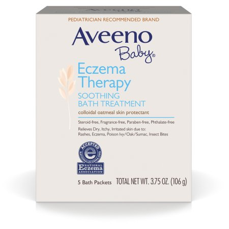 Aveeno Baby Eczema Therapy Soothing Bath Treatment For Minor Skin Irritations, 5