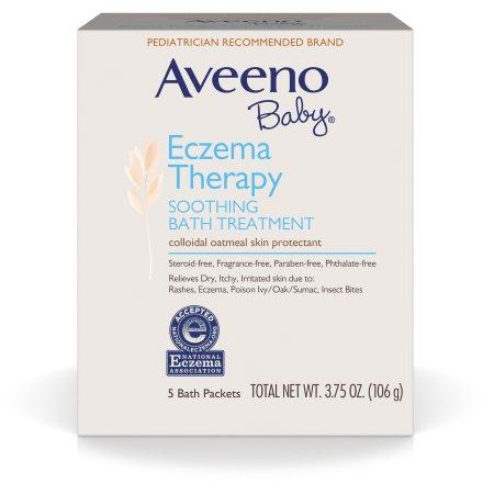 Aveeno Baby Eczema Therapy Soothing Bath Treatment For Minor Skin Irritations, 5 Aveeno Baby Eczema Therapy Soothing Bath Treatment For Minor Skin Irritations, 5 Count  By J&J Consumer Inc Item No.:OT