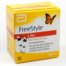 Freestyle Lite Test Strip 50Ct Retail pack by Abbott Freestyle Lit Stp 50 By Abbott Diabetes Care Sales Item No.:4771720 Ndc No.: 99073070822  99073-0708-22  99073-708-22  9907370822   Upc No.: 699073