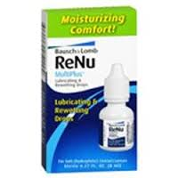 Re-Nu Multiplus Lubricating And Rewetting Drops - 0.27 Fl oz 8ml Bottle By Valeant North America LLC Item No.: 4772145 NDC No.: 10119005220 UPC No.: 310119052204 Item Description: Soft Lens Rewetting