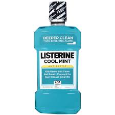 Listerine Antiseptic Mouthwash, Cool Mint 1Ltr