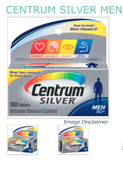 Centrum Silver Tablet Men 100 Count