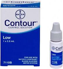 Bayer Contour Control Solution Low 2.5ml