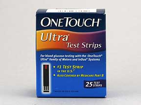 One Touch Ultra Blue Test Strip 25 Count Retail Pack By Lifescan