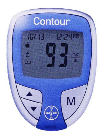 '.Bayer CONTOUR METER SYSTEM kit.'