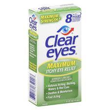 Clear Eyes Maximum Itchy Eye Relief Eye Drops - 0.5 fl oz bottle