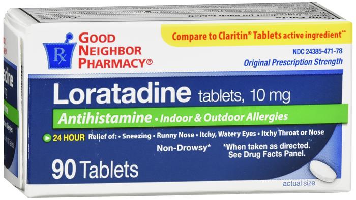 Pack of 12-GNP Loratadine 10 mg Tab 90 Generic Claritin