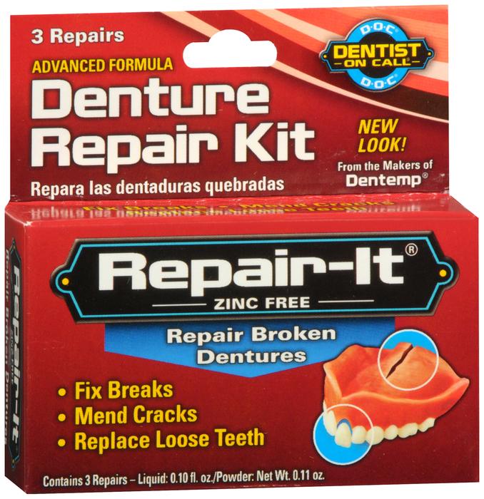 Dentemp Denture Repair Kit 3Ct