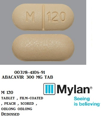 RX ITEM-Abacavir 300mg Tab 50 by Mylan Institutional