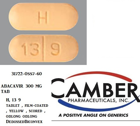 Abacavir 300mg Tab 60 by Camber Pharma
