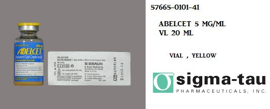 RX ITEM-Abelcet 5mg/ml Vial 20ml by Sigma Tau Enzon REFRIGERATED