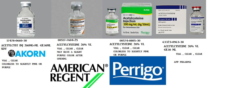Rx Item-Acetylcysteine 100Mg/ml Vial 25X4ml By American Regent Lab