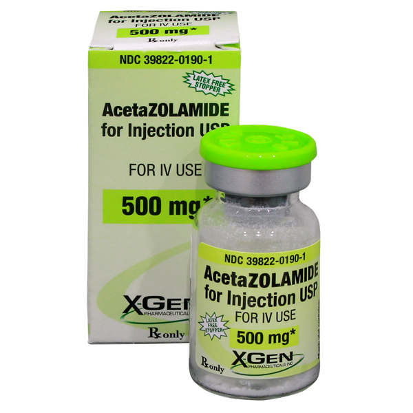 Rx Item-Acetazolamide 500mg Vial By X Gen Pharma