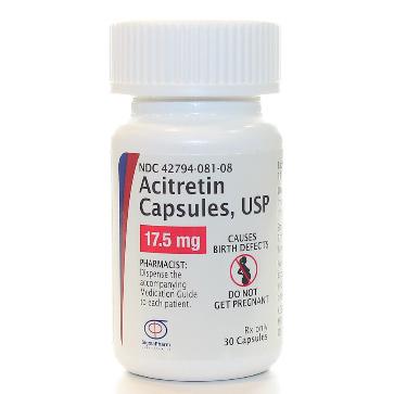 Rx-Item Acitretin 17.5mg Cap 30 By Sigmapharm Lab