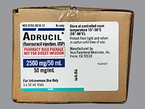 Rx Item-Adrucil 2.5G/50ml Vial 5X50ml By Teva Pharma