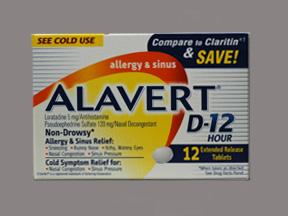 Rx Item-Alavert D 12Hr Tablet PSE12 Count By Pfizer