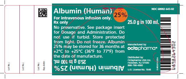 Rx Item-Albumin 25% Sol 100ml By Octapharma Human Albumin 25Gm