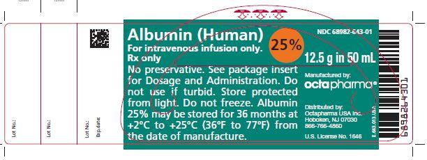 Rx Item-Albumin 25% Sol 50ml By Octapharma 12.gm Albumin Human