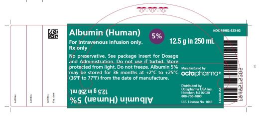 Rx Item-Albumin 5% Sol 250ml By Octagam Pharma Albumin Human 12.5Gm