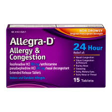 Rx Item-Allegra D 12 Hr 60 mg 30 Tab By Chattem