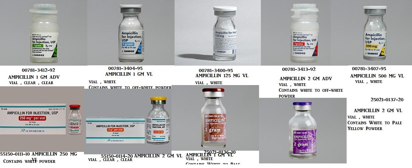 RX ITEM-Ampicillin 1 G Adv 10 by Sandoz Pharma