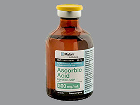RX ITEM-Ascorbic Acid 500mg/ml Vial 50ml by Mylan Institutional Refrigerated