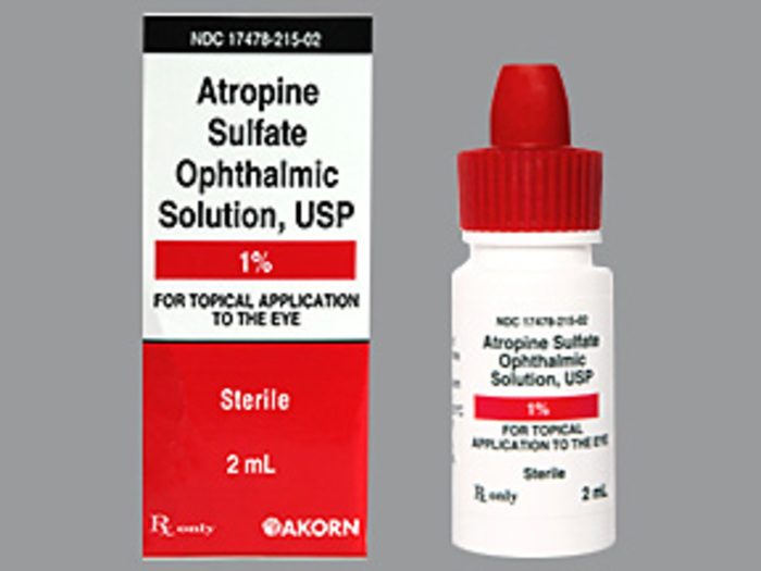 RX ITEM-Atropine Sulfate 1% drops 2ml by Akorn Pharma