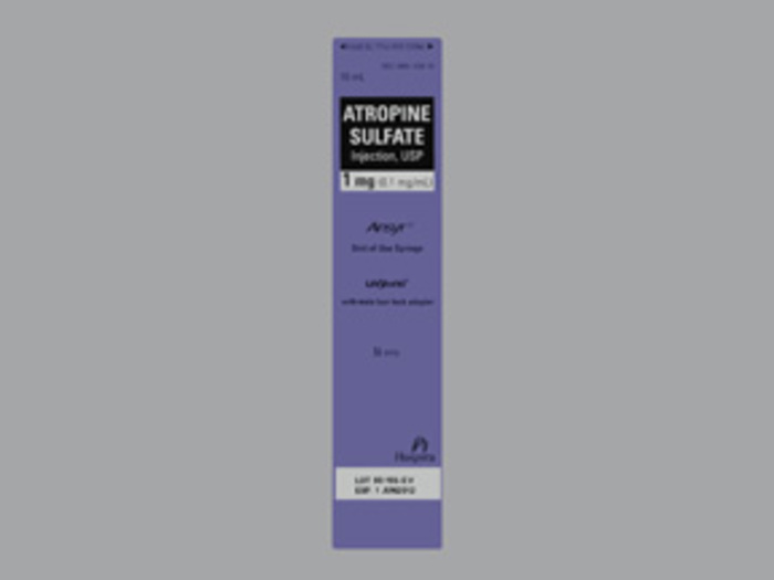 RX ITEM-Atropine Sulfate Ans 0.1mg/ml Syg 10X10ml by Hospira Worldwide