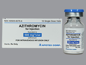 RX ITEM-Azithromycin 500mg Vial 10 by Apotex Corp