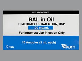 RX ITEM-Bal In Oil 100mg/ml Amp 10X3ml by Akorn Pharma