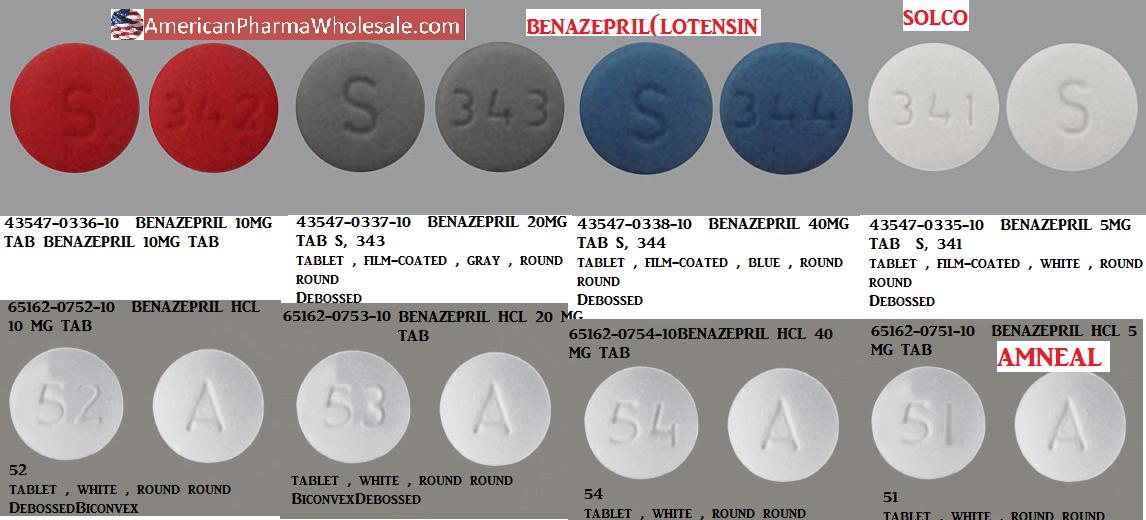 RX ITEM-Benazepril 10mg Tab 100 by Solco Healthcare