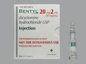 RX ITEM-Bentyl 10mg/ml Amp 5X2ml by Actavis Pharma