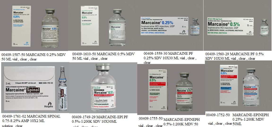 RX ITEM-Marcaine 5Mg/Ml Vial 50Ml By Hospira Worldwide
