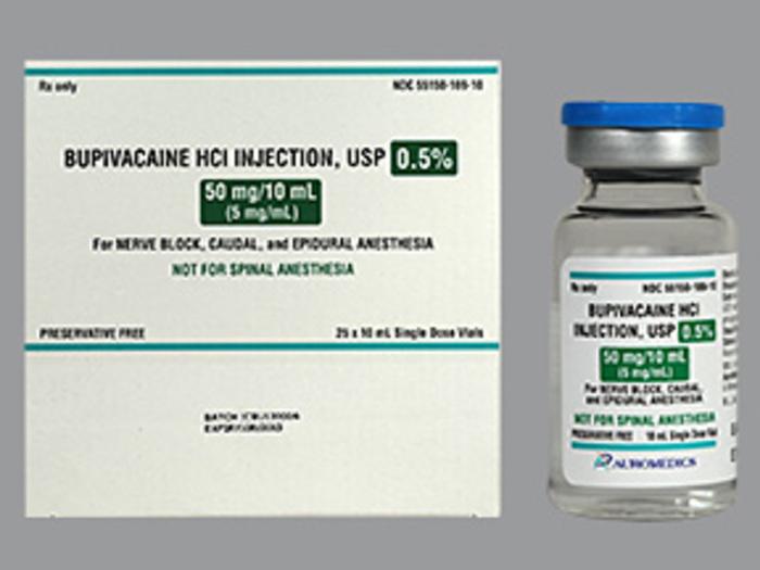 RX ITEM-Bupivacaine 5mg/ml  PF .5% Vial 25X10ml by Auromedics Pharma