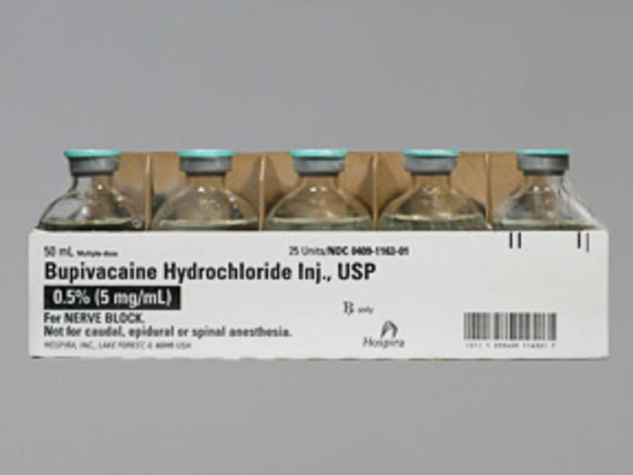 RX ITEM-Bupivacaine 5mg/ml Vial 25X50ml .5% by Hospira Worldwide