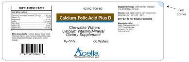 Rx Item-Calcifol 500 1.6mg Waf 30 By Niche Pharma