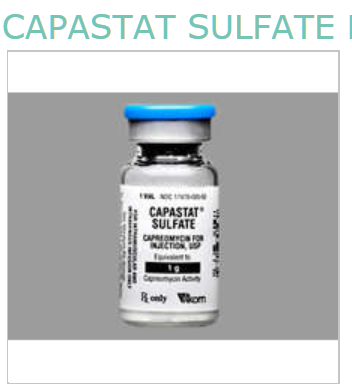 Rx Item-Capastat Sulfate 1 gm Vial By Akorn Pharma