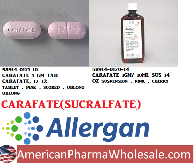 Carafate 1G/10 ml Sus 14 oz by Actavis Pharma