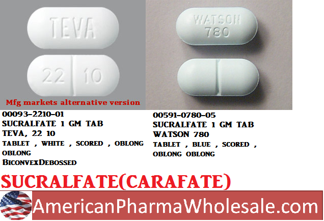 RX ITEM-Sucralfate 1 Gm Tab 500 By Actavis Pharma