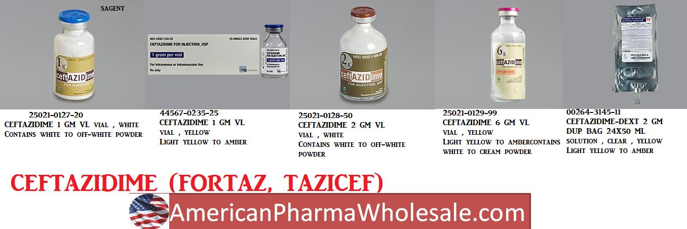 '.Tazicef 1 Gm Adv 25 By Hospira Worldwide.'